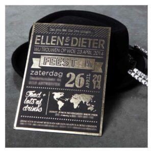 trouwkaart Ellen & Dieter