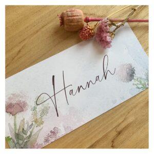 geboortekaartje Hannah
